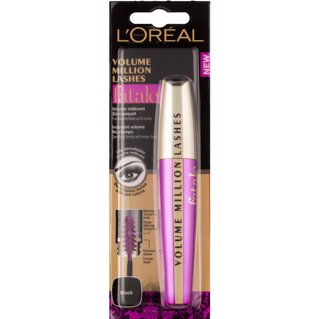 L'Oréal Paris Make-Up Designer Volume Million Lashes Fatale 01 Black Wimpermascara
