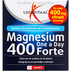 Lucovitaal One A Day Magnesium 400 Forte Oplosdrank Citroen
