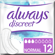 Always Discreet Incontinentieverband 0% Normal 12 stuks