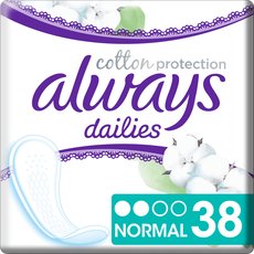 Always Dailies Cotton Protection Inlegkruisjes Normal 38 stuks
