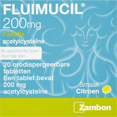 Fluimucil 200 mg Pastilles Citroensmaak