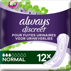 Always Discreet Verband Voor Urineverlies Normal 12 stuks