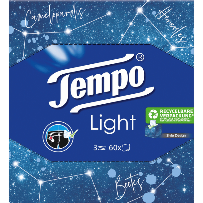 Tempo Light 3-Laags Tissues