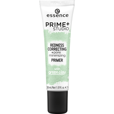 essence prime+ studio redness correcting + pore minimizing primer