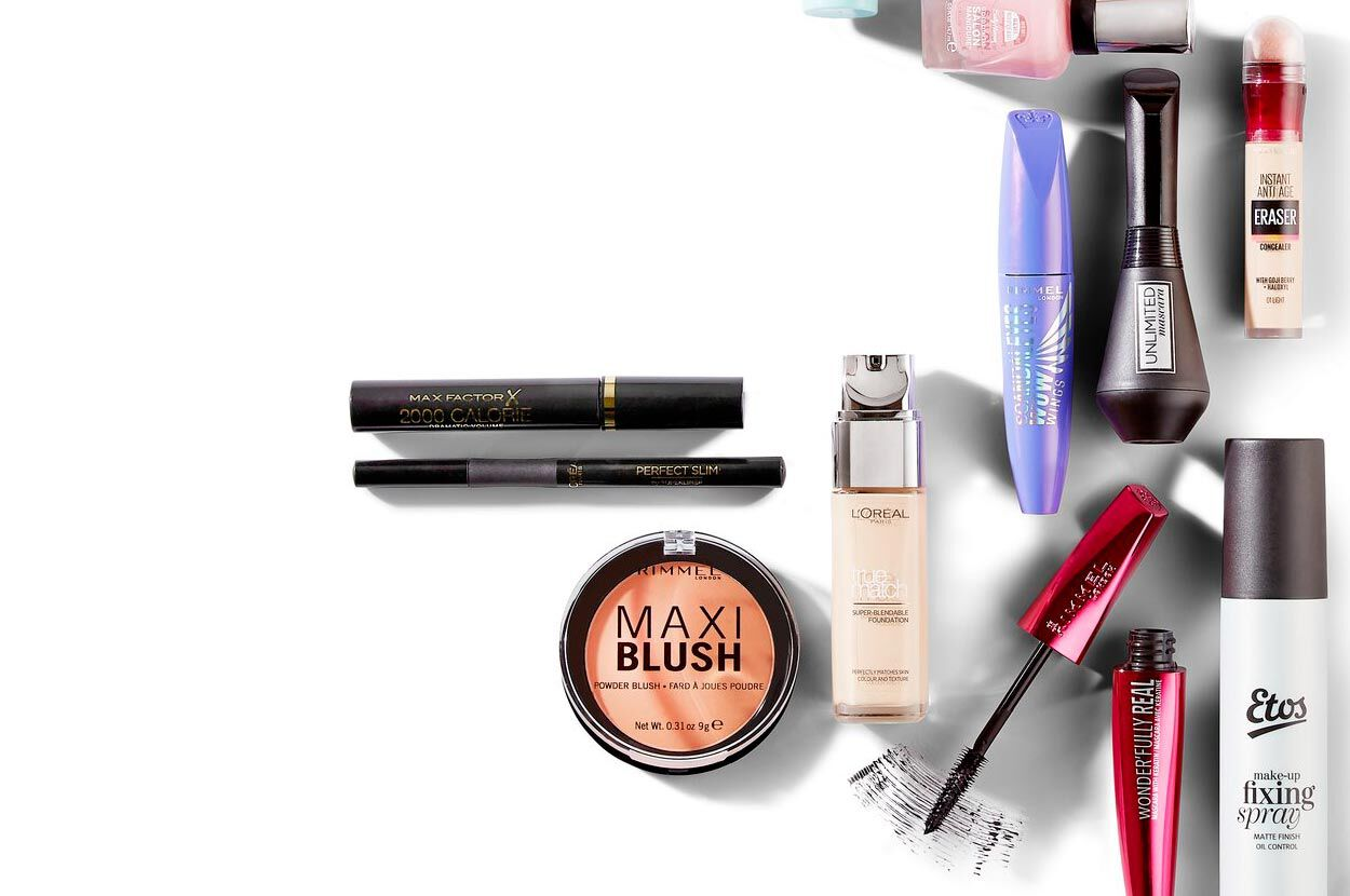 verschillende make-up producten