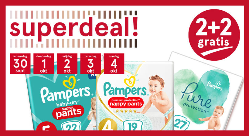 Pampers Superdeal 2+2
