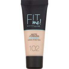 Maybelline Fit Me Matte & Poreless Foundation 102 Fair Ivory  Medium Dekkende Foundation