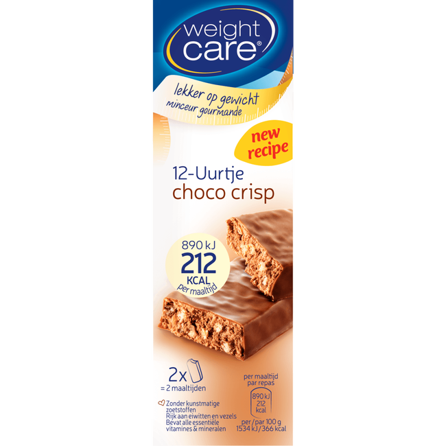 Weight Care 12-Uurtje Maaltijdreep Choco Crips