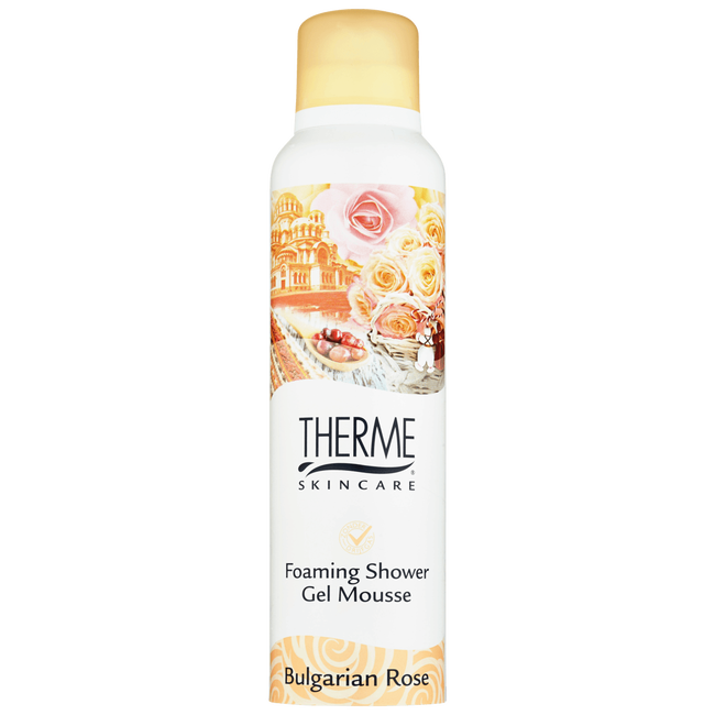 Therme Bulgarian Rose Foaming Shower Gel