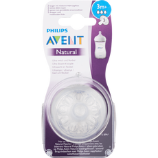 Philips Avent Natural Flesspeen 3 Gaten 3m 2x