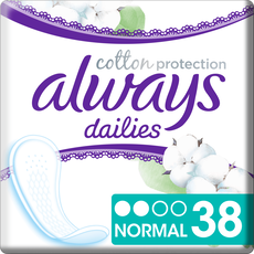 Always Dailies Cotton Protection Inlegkruisjes Normal