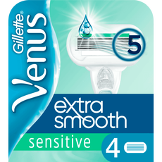 Gillette Venus Sensitive Extra Glad Navulmesjes - 4 stuks