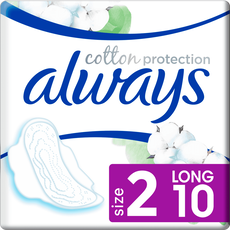 Always Cotton Protection Ultra Maandverband Met Vleugels Long