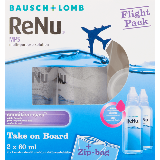 Bausch & Lomb ReNu MPS Flight Pack Sensitive Eyes