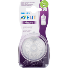 Philips Avent Natural Flesspeen 2 Gaten 1m 2x