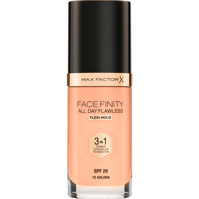 Max Factor Facefinity 3-In-1 All Day Flawless Foundation - 075 Golden
