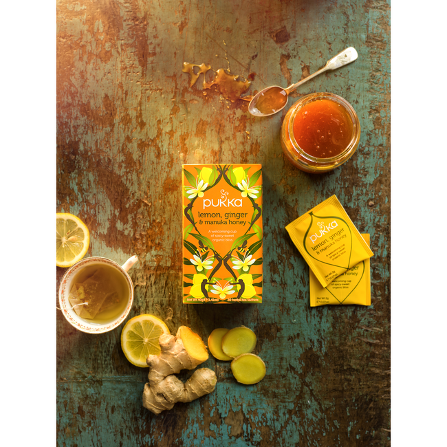 Pukka - Lemon Ginger & Manuka Honey 20 Zakjes