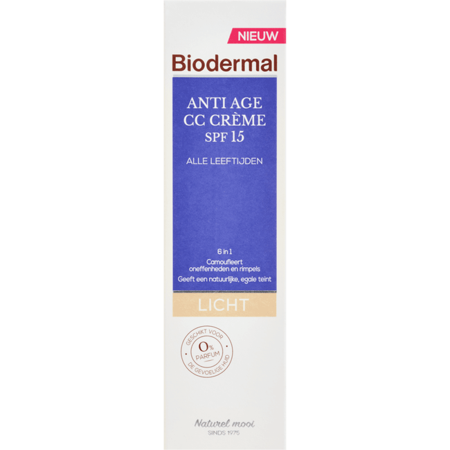 Biodermal Anti-Age CC Cream SPF15 Licht