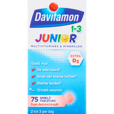 Davitamon Junior 1-3 Smelttabletjes Aardbei