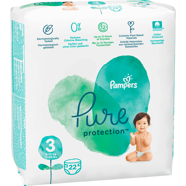 Pampers Pure Protection Luiers 3