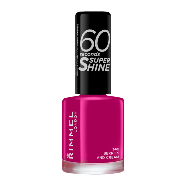 Rimmel London 60 Seconds Supershine Nailpolish - 340 Berries And Cream