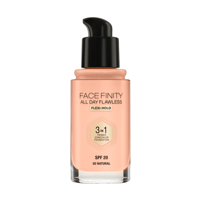 Max Factor Facefinity 3-In-1 All Day Flawless Foundation - 050 Natural