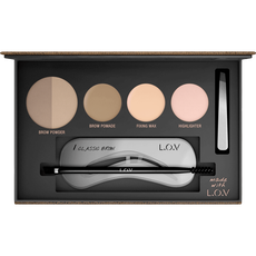 L.O.V Browttitude Professional Eyebrow Palette 500 Blonde Perfection