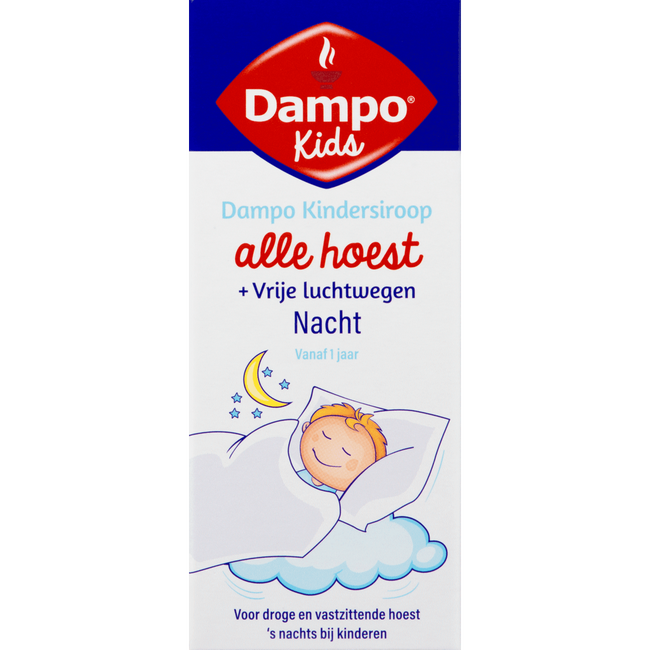 Dampo kindersiroop alle hoest nacht